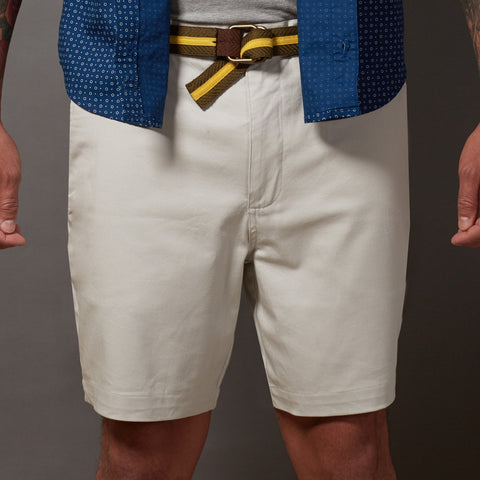 Stone Cotton Stretch Twill Shorts
