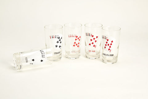 "Vintage ""Winning Poker Hands"" Bar Set"