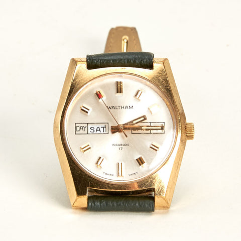 Vintage Waltham Gold Plated Day/Date Watch