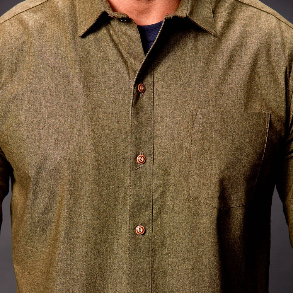 Olive Green Chambray Shirt - Gavin