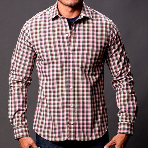 Lavender & Grey Heather Check Shirt - Anderson