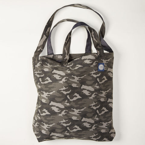 Camo & Denim Reversible Tote Bag