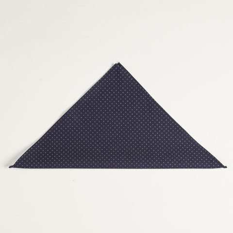 Japanese Indigo Dyed Navy Circle Print Pocket Square