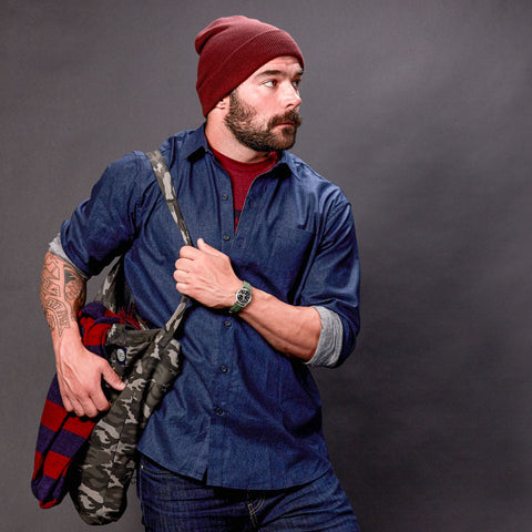 Burgundy Heather Watch Cap