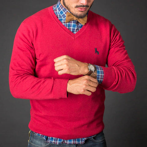 Nantucket Red V-Neck Sweater