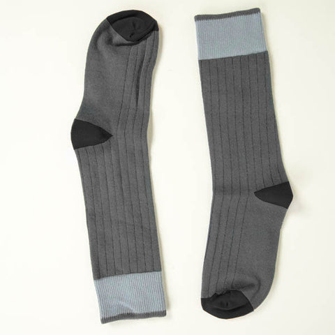 Solid Grey with Tonal Grey Tipping Socks