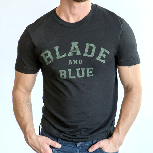 Black with Olive Blade + Blue Tee One Piece Size S Available
