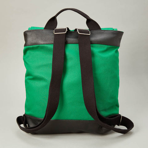 Green Canvas Twill Backpack