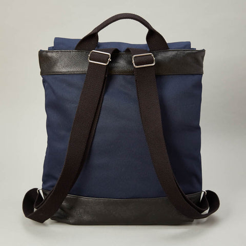 Navy Blue Canvas Twill Backpack