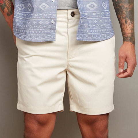 Off-White Twill Cotton Shorts
