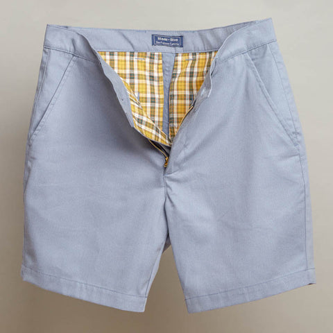 Cornflower Blue Cotton Twill Shorts