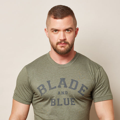 Olive Green Blade + Blue Tee