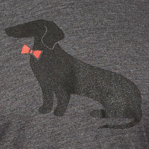 Grey Heather & Black Dachshund Tee