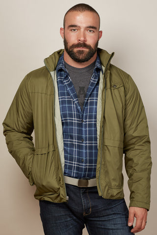 Olive Green Lightweight Puffer Jacket