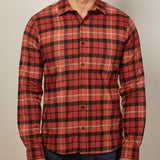 Orange Plaid Flannel Shirt - Timothy