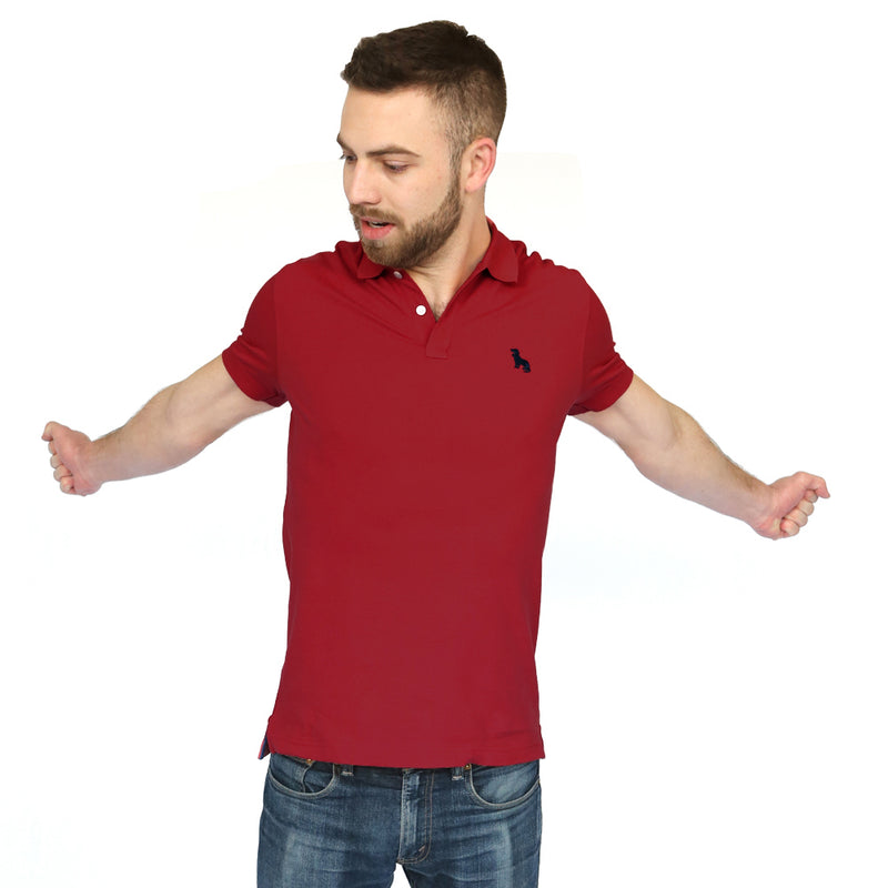 Cranberry Red Cotton Pique Polo