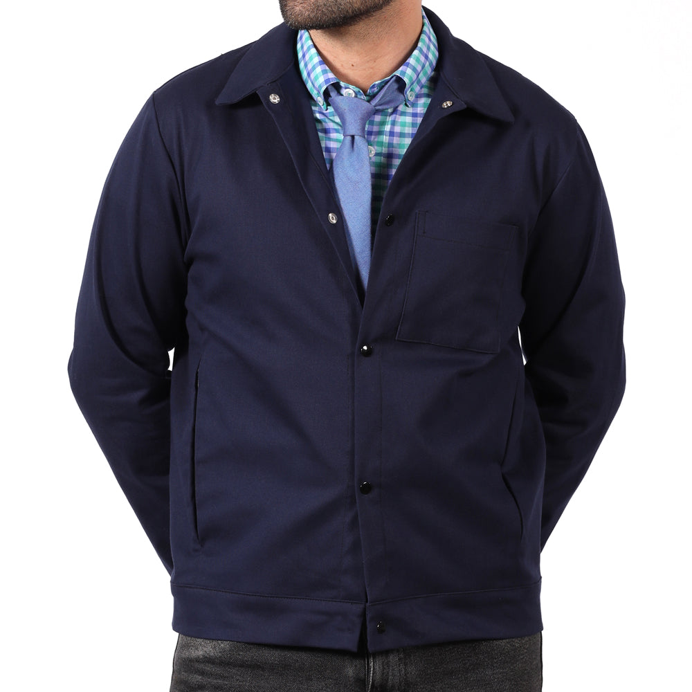 Limited Edition Blue Snap Front Jacket