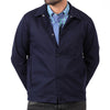 Blue Stretch Twill Snap-Front Jacket