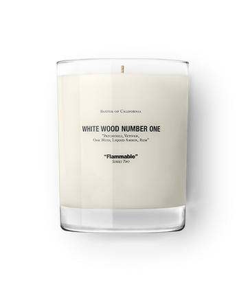 Baxter of California White Wood Candle #1