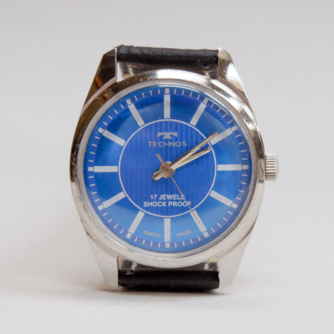 Vintage Swiss Army Diver's Watch with Blue Dial