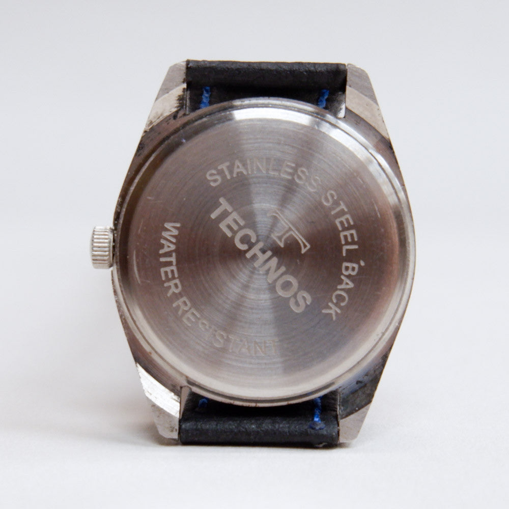 Vintage 1970's Technos Blue Face Watch