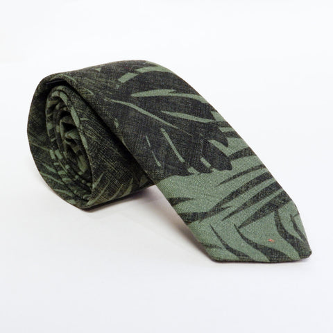 Royal Blue Botanical Print Tie