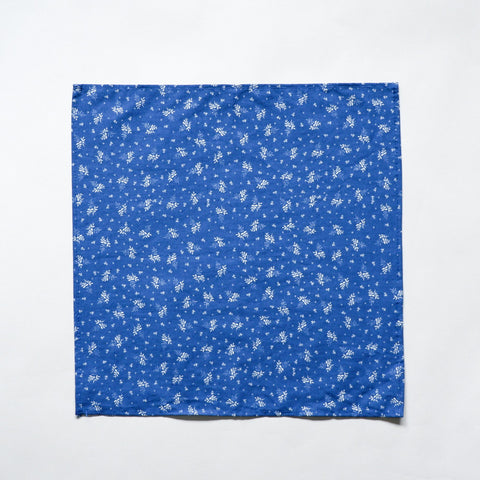 Royal Blue with Botanical Print Pocket Square