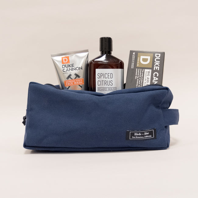 Navy Canvas Travel Dopp Kit