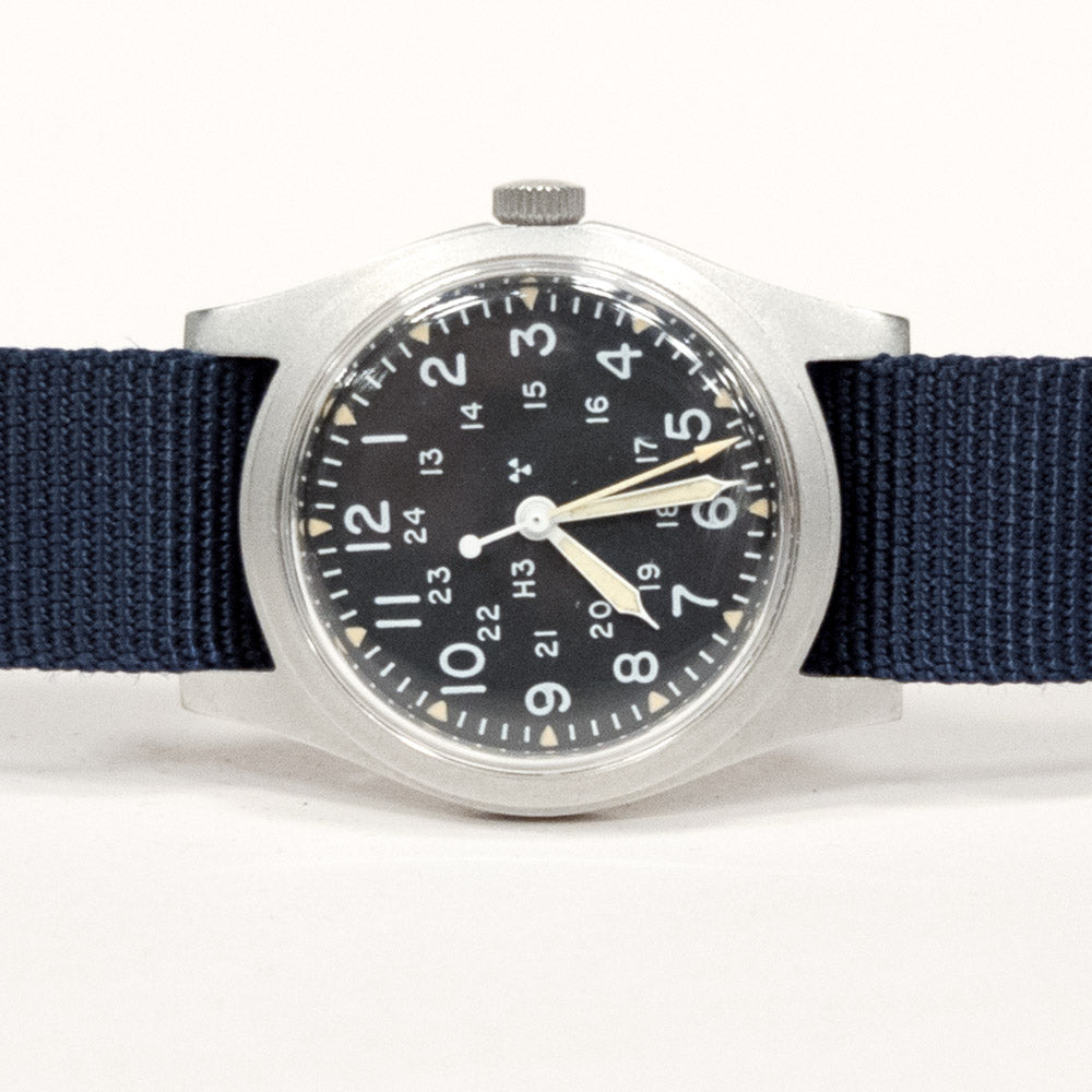 Vintage 1979 Hamilton Field Watch with Blue Band