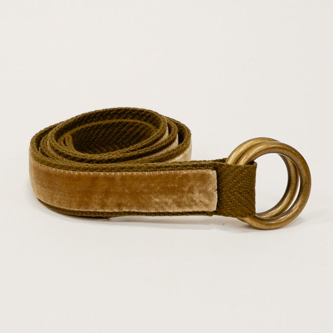 Khaki Velvet Belt by One Magnificent Beast One Piece Size L Available