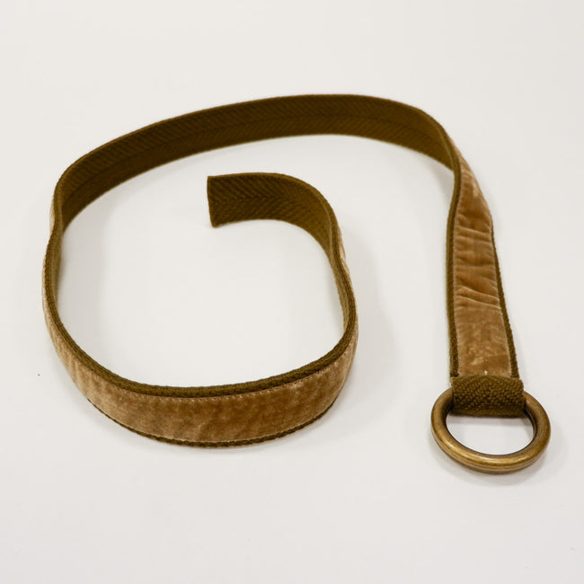Khaki Velvet Belt by One Magnificent Beast