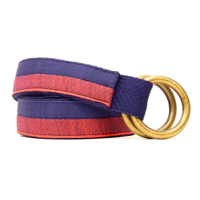 Red & Blue Colorblock Belt by One Magnificent Beast