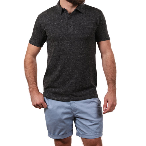 Charcoal Heather ECO-Friendly Tri-Blend Jersey Polo