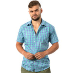 Green & Royal Blue Even Check Shirt - Estefan