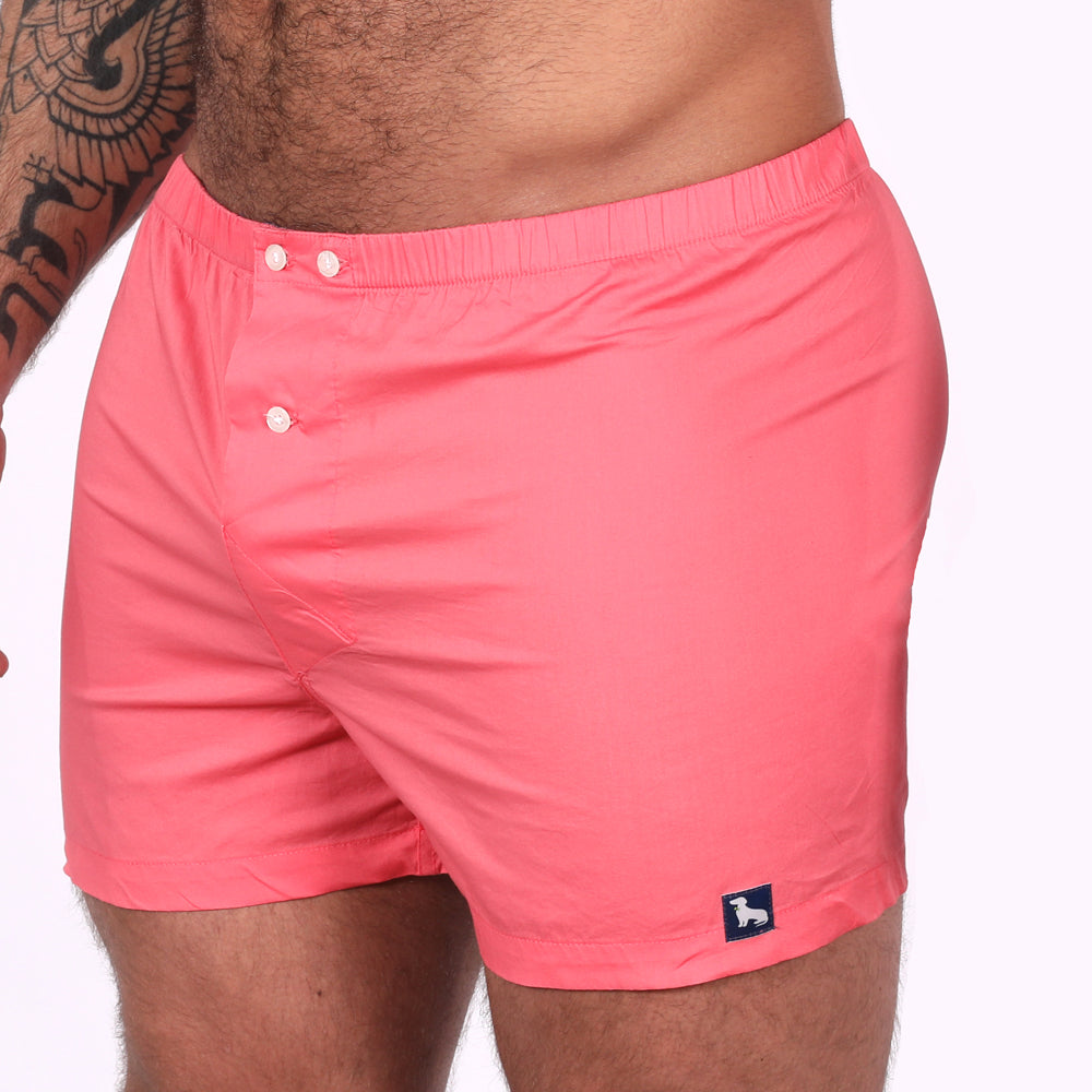 Solid Hot Pink Boxer Short - Devon