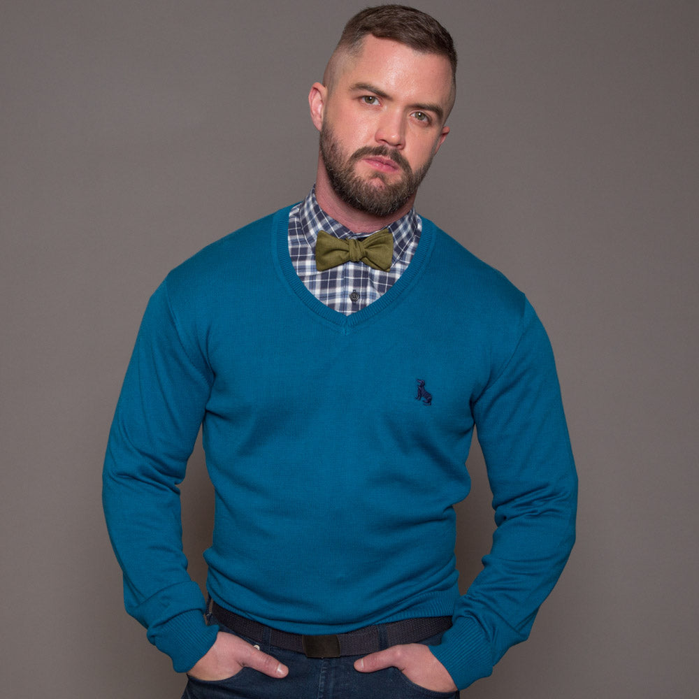 Solid Olive Green Cotton Bow Tie