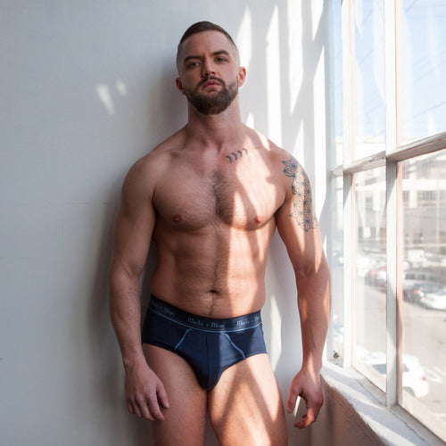 Navy Blue Brief Underwear