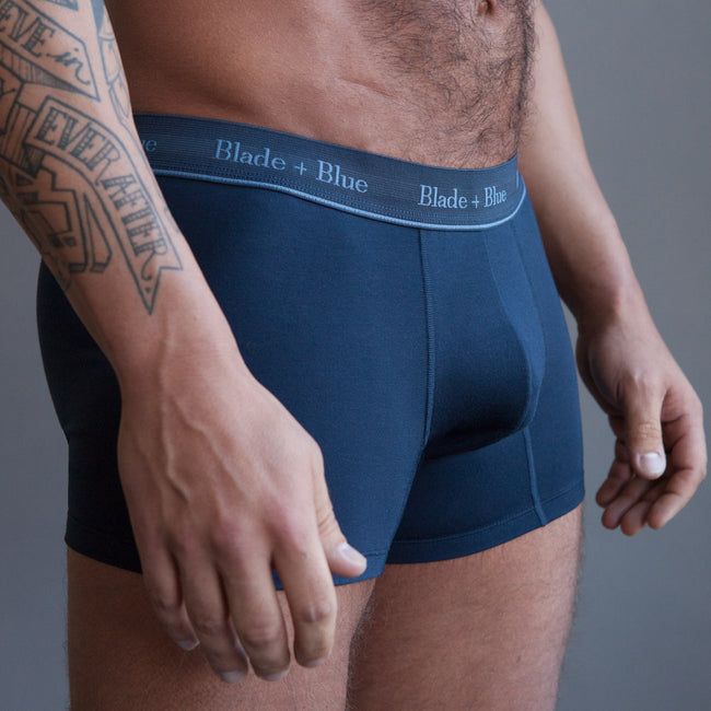 Navy Blue Trunk Underwear