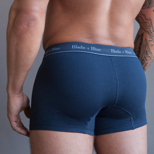 Navy Blue Trunk Underwear - One Piece Size XL Available
