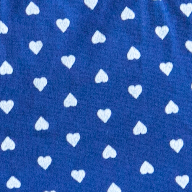 Navy Blue & White Hearts Print Boxer - Anderson