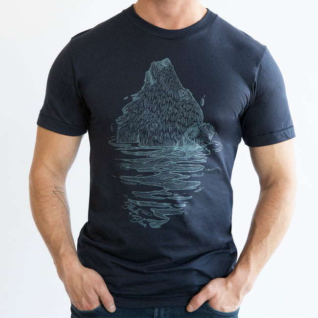 Navy Blue Emerging Bear Tee