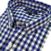 Royal Blue, White & Navy Open Check Long Sleeve Shirt - 'Hunter'