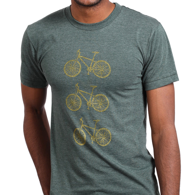 Provincetown Green Stacked Bikes in Bronze Tee