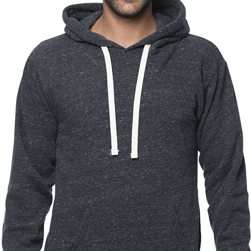 Charcoal Marled Popover Hooded Fleece Sweatshirt - Made in USA Sizes S & M Available