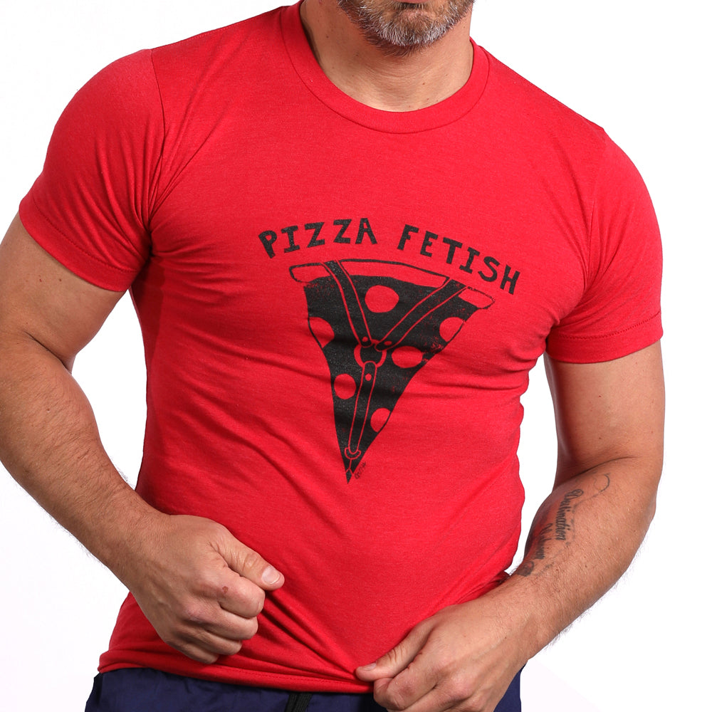 Red Pizza Fetish Tee Shirt