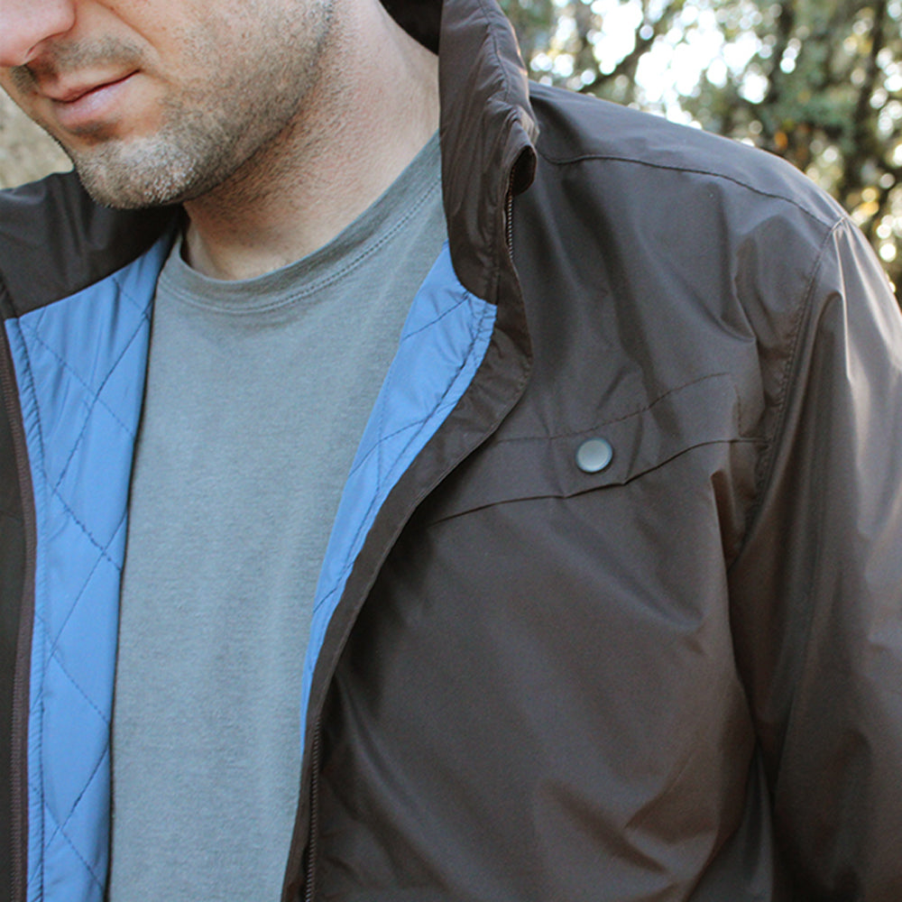 Dark Brown Lightweight Puffer Jacket