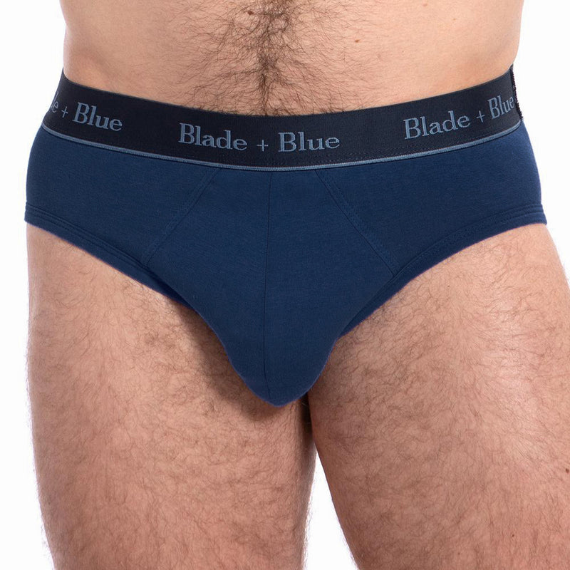 Navy Blue Low Rise Brief Underwear