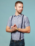 Elastic Suspenders for Men