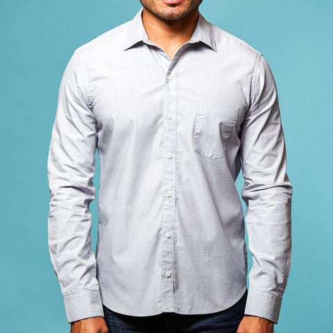 Grey End On End Shirt - Francisco