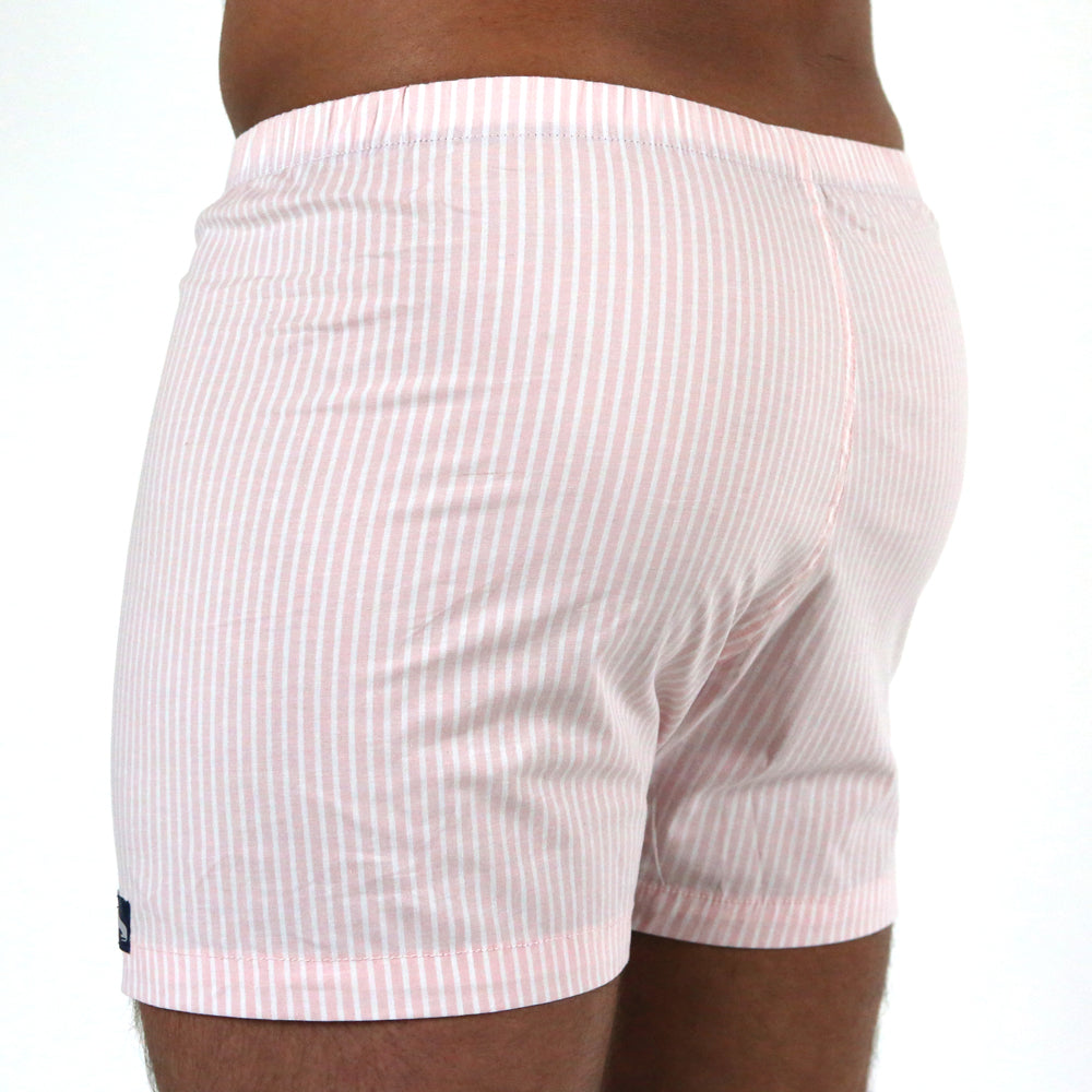 Pink & White Shirting Stripe Boxer - Troy